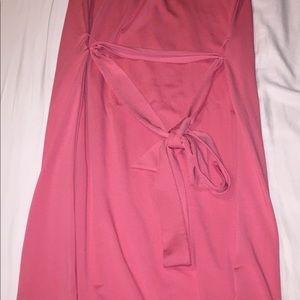 Strapless salmon summer dress